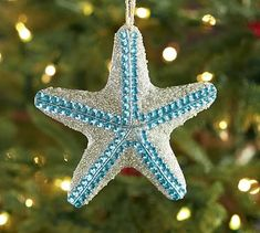 Need Christmas inspiration? Shop Pottery Barn for coastal Christmas decorations and have a nautical inspired holiday. Find coastal ornaments, wreaths, candles and more! Letter Ornaments, Shell Ornaments, Christmas Tree Ornaments, Christmas Decorations, Tree Decorations, Coastal Christmas Decor, Nautical Christmas, Holiday Decor, Beach Christmas