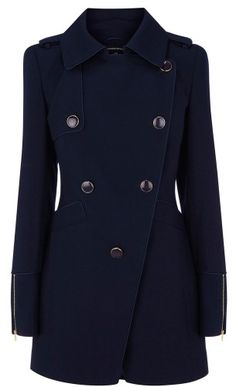 Gorgeous navy coat....perfect for fall and winter.