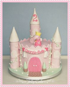 Peppa Pig Princess Castle | by www.jellycake.co.uk