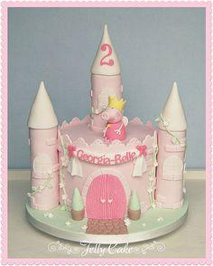 Peppa Pig Princess Castle | by www.jellycake.co.uk