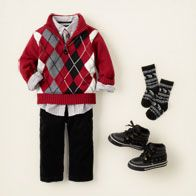 My future little man is going  to be so stickin cute!!Christmas Outfit - Children's Place