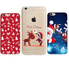 Wesołych Świąt Case Dla iphone 7 Case Mikołaj Snowman Back Cover Przypadki telefonów Dla iphone X 8 6 6 S 6/7 PLus 5 5S SE