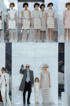 Chanel Haute Couture S/S 14  De fashion weeks zijn weer in volle gang in alle grote modesteden. Vanmorgen was het de beurt aan Chanel. Karl Lagerfeld showde tijdens de Haute Couture fashion week zijn lente/zomer collectie voor dit jaar. Zoals we van Chanel gewend zijn, worden we nooit teleurgesteld.- modelprofile