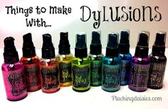 Things to make with Dylusions Spray Inks ... http://pluckingdaisies.com/things-to-make-with-dylusions-spray-inks/
