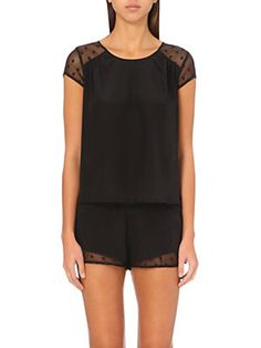 PRINCESSE TAM TAMDoris silk nightwear top
