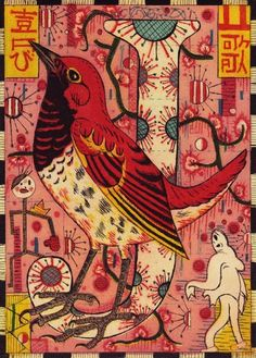 J is for Japanese songbird. From Alphabet of Songbirds by Tony Fitzpatrick.
