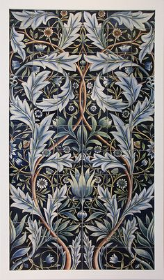 Tile Panel :: designed by William Morris, made at the William De Morgan pottery, 1876