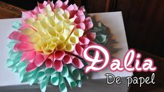 DIY Flor Dahlia de papel // Paper Dahlia
