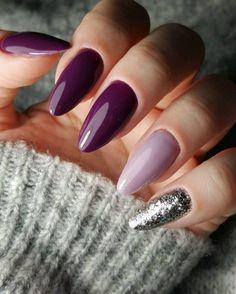 Purple Nail Art, Pink Nails, Stylish Nails, Trendy Nails, Fancy Nails, Cute Nails, Hair And Nails, My Nails, Star Nails