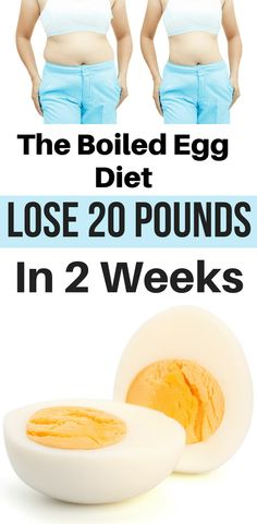 Diet Plan To Lose Weight - The Boiled Egg Diet: Lose 20 pounds in 2 weeks. Stop gambling your health with fad diets and lose weight with the revolutionary boiled egg diet. Weight Loss Meals, Quick Weight Loss Tips, How To Lose Weight Fast, Losing Weight, Lose Fat, Fastest Weight Loss Diet, Reduce Weight, Drop Weight Fast, Slimming World