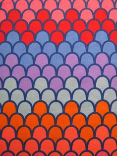 "1960/70s #Heals fabric pattern ""Sirocco"""