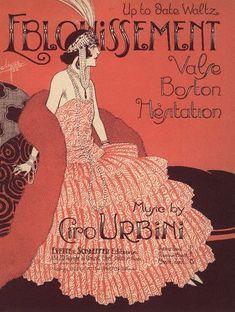 artdecoblog:    Clerice Freres, Waltz Eblouissement, music poster, 1922 on Flickr.  Image by © Swim Ink 2, LLC/CORBIS