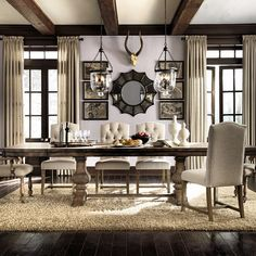 Accentrics Home Desdemona Rectangular Dining Table by Pulaski Furniture at Godby Home Furnishings Decor, Dining Room Design, Dining Furniture, Custom Dining Room, Furniture, Rustic Dining Room, Rectangular Dining Table, Home Decor, Dining Room Sets