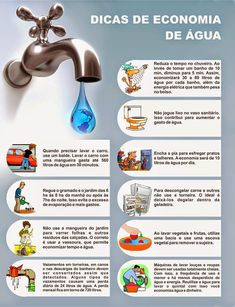 Autossustentável: Dicas de Economia de Água Save Planet Earth, Environmental Engineering, Green Office, Water Pollution, Reduce Reuse Recycle, Sustainable Tourism, Energy Projects, Go Green, Global Warming