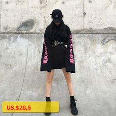 Winter Women Sweatshirt Harajuku Kawaii Tops Letter Print Long Casual Street Lady Sweatshirts Tracksuit WH7001