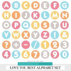 Love Scrapbook, Scrapbook Stickers, Scrapbook Pages, Printable Letters, Printable Stickers, Cute Stickers, Planner Stickers, Number Stickers, Stickers Alphabet