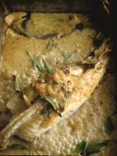 Monkfish with sage and roasted garlic recipe