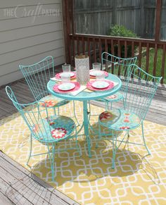 Amazing patio set redo. You won't believe what it looked like before!