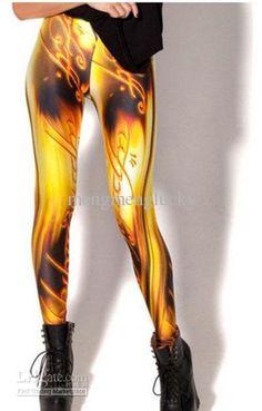 Wholesale 2013 new stylish Best quality BLACK MILK GAGAXY beautiful women leggings colorful yellow sexy lady's leggings, Free shipping, $16....