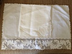 Vintage  Maderia Applique Placemats with Napkins