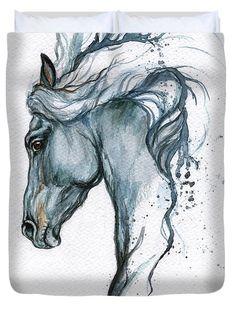 cute animals to draw Gerahmte original Aquarell Malerei Tattoo Pferd von AngelHorses Horse Drawings, Animal Drawings, Art Drawings, Drawing Art, Pencil Drawings, Watercolor Horse, Watercolor Paintings, Art Paintings, Painting Art