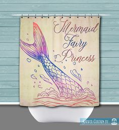 Mermaid Tail Shower Curtain: Mermaid Fairy by BrandiFitzgerald
