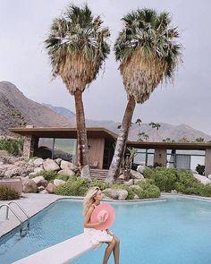 { current #summermood...pic via designlovefest.com  by@jasonleeparry #desert #palms #summervibes #vacationmode #colorlove }