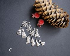 Christmas New Year Charm Pendants Antique by CreativeRoomKartA