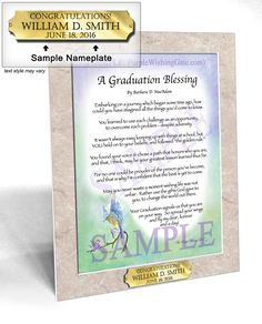 A Graduation Blessing