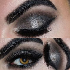 """My kinda """"smokey"""" eye. Urban Decay mushroom & blackout with macs espresso & Swiss chocolate. The liner is @masquerade_cosmetics cake liner and the highlight is wetnwilds brûlée. Lashes are 112 brand less lashes from my local beauty store. - @theevanitydiary- #webstagram"""