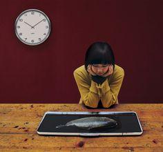 Zegar One stalowy biały z cyframi arabskimi - Leff dostępny na FabrykaForm.pl