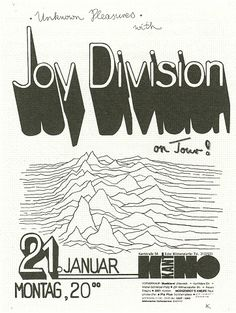 Joy Division music gig poster | Kant Kino Berlin