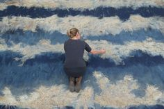 Dutch artist Claudy Jongstra takes the ancient skills of felting and tapestry from textile art & craft beyond into the realms of art and architecture. Aside from producing incredi… Felt Wall Hanging, Slow Design, Dutch Artists, Portraits, Nuno Felting, Felt Hearts, Textile Artists, Craft Work, Ancient Art