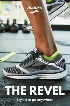 The Revel | From Brooks Running | This is the perfect blend of street style and performance running. With its foot-hugging knit upper, the Revel provides comfortable, soft cushioning and an on-trend look that goes anywhere—on the run or on the town.