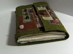 wool painting renata felt book | The Forest Wool Felt Embroidered Journal Artist Book - contains ...