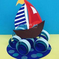 Kids Craft Art (@kidscraftart) • Фото и видео в Instagram Body Parts Preschool Activities, Summer Activities For Kids, Toddler Activities, Preschool Classroom Decor, Preschool Crafts, Summer Crafts, Diy And Crafts, Paper Crafts, Bible Crafts For Kids