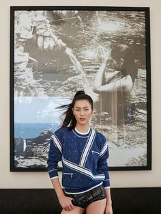 Liu Wen Hits the Beach in 90s Inspired Fashion for ELLE China
