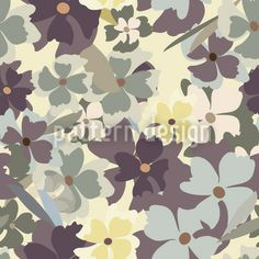 She Dreamed In The Flower Garden Repeating Pattern Flower Garden Design, Flower Designs, Round Tablecloth, Repeating Patterns, Vector Pattern, Soft Colors, Surface Design, Delicate, Home And Garden