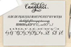 Cangkhoi Script (Font) by bbakey · Creative Fabrica Modern Script Font, Script Fonts, All Fonts, Photographer Portfolio, Punctuation, Premium Fonts, Glyphs, Improve Yourself, Print Design