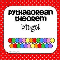 Pythagorean Theorem - Cornell Notes  Bingo Game!!
