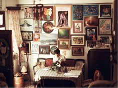 Theres no such thing as too much artwork on the walls.