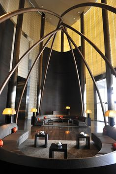 Lobby Armani Hotel in Dubai    We love hotels!  Also see http://www.falkensteiner.com