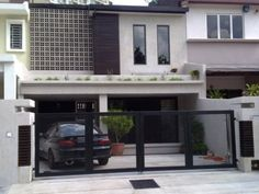 Modern terrace house facade