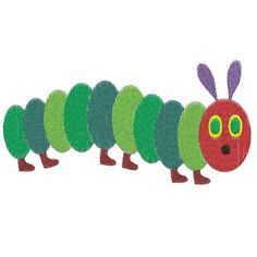 very hungry caterpillar Machine Embroidery Design -- 0726