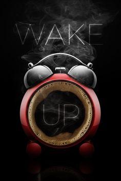 alarm clock and coffee – photo Coffee Cafe, Coffee Humor, My Coffee, Coffee Drinks, Coffee Shop, Apple Advertising, Coffee Advertising, Visual Advertising, School Advertising
