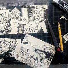 Work in progress 🌸PIN-UP JOLANDA🌸 comic collage for the wallet!!! #pinupwallet #comicportemonnaie #comicupcycling #unikat #100%handmadeinberlin