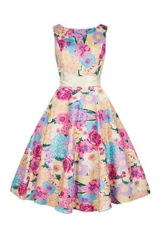 Collectif Vintage Margaret English Garden Swing Dress