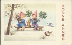 Geluk op de bank   Vintage ansichtkaarten   ZomaarVintage