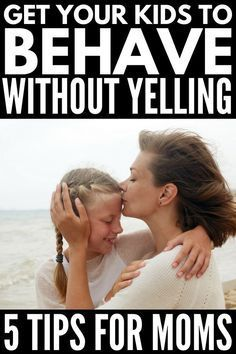 Learn how to get your kids to listen without yelling with these 5 simple tips that work! Parenting is not for the faint of heart & figuring out how to get your kids to behave without yelling at them can sometimes feel impossible. But it's not! Whether you're a mom of toddlers (temper tantrum, anyone?!) or have older kids who are acting out at school, these simple yet practical parenting tips will teach you how to get your kids to listen...the first time! #parenting #parentingtips #parenting101