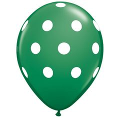 "11"" Polka Dot Balloon, Emerald Green"